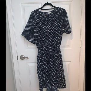 Ava and Viv Polka Dot Ruffle Dress